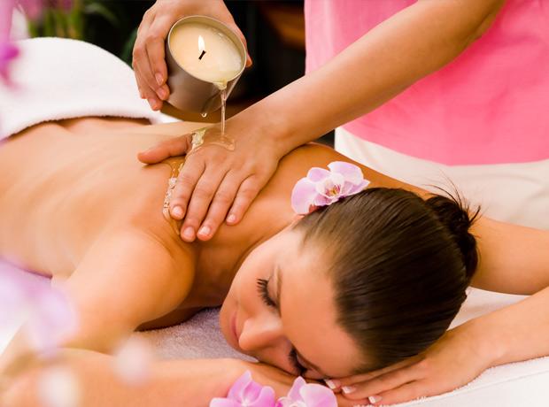 Bougie de massage
